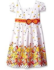 Sunny Fashion Robe Fille Court Manche Papillon Point École Uniforme