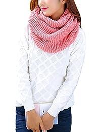 8f3b23c6148c iShine Mode Echarpe Tricoté Tube Foulard Tubulaire Echarpe en Tour au Cou  pour Femme Fille Cache-col Unicolore…