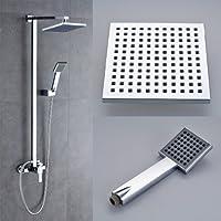 Auralum - columna de ducha de lluvia con mezclador termostático y alcachofa