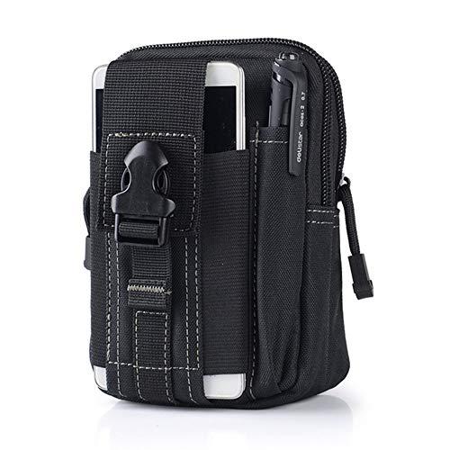 Lisirs Molle Pouch Kompakte EDC Dienstprogramm Taktische Beutel Mehrzweck Gadget Gürteltasche Taille Werkzeugtasche mit D-Karabiner Schwarz - - Multi-sport Gps-pack