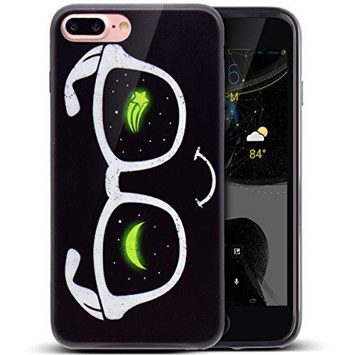 Coque iPhone 7 Plus, Étui iPhone 7 Plus, TPU Case Cover Étui pour iPhone 7 Plus, ikasus® Coque iPhone 7 Plus Silicone Étui Housse Téléphone Couverture TPU avec Motif peint coloré Ultra Mince Premium S Des lunettes