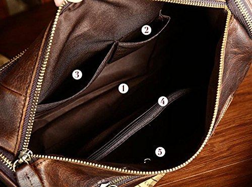 DJB/ Aktuelle Mann Tasche retro Herren Mode Freizeit single Schulter geschlungen Taschen Crazy Horse Leder 1