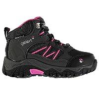 Gelert Kids Boys Horizon Mid Infants Walking Boots Lace Up Charcoal/Pink UK C9 (27)