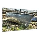 Boot Holz Zaun Seil Alt Erde Paddel Ruder Leinwand Poster Druck Bild dd1335 90x60