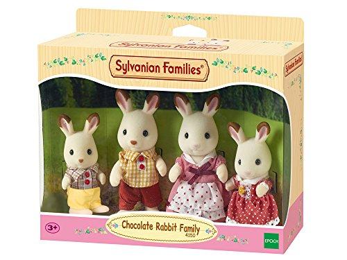 Sylvanian Families Familia Conejos Chocolate, 20.6 x 17.0 x 6.1 (Epoch