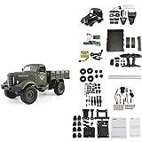 RC Auto Ferngesteuerte Militär LKW Truck 4WD,JJRC Q61DIY Manuelle Montage Spielzeug
