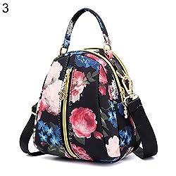 Tasche für Damen, bunte Frauen, Einkaufstasche, Blumenballon, Reißverschluss, Schultertasche