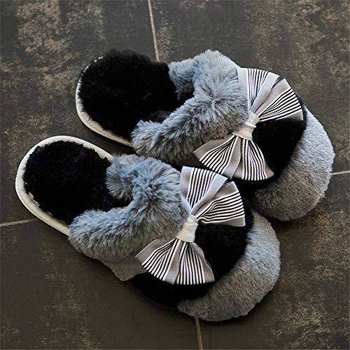ausschuhe aus Baumwolle Mädchen Warme Damenschuhe Home Dicke Herrenhausschuhe, 3,35 ()