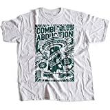 A002-220w Combi Abduction Herren T-Shirt Alien UFO Save Your Combi They Come Comics Space Geek Classic(Medium,White)