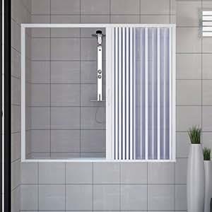 Pare baignoire douche en Plastique PVC mod. Nina 160cm avec ouverture latérale