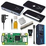 Vilros Raspberry Pi Zero W Basic Starter Kit- Clear Case Edition-Includes Pi Zero W - UK Power Supply & Premium Black Case Set
