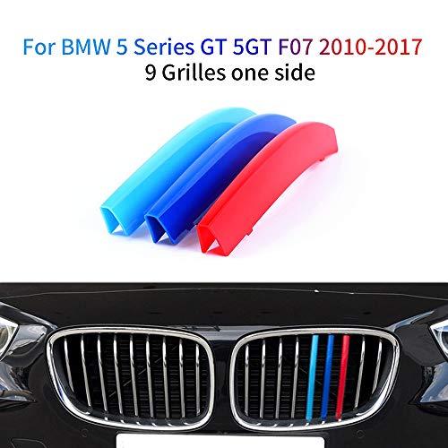 Cobear Für 5 Series GT 5GT F07 528i 535i 550i 2010-2017 3 Farbe Front Kühlergrille Trim Streifen Nierenaufkleber 3 Stück (9 Stäbe)