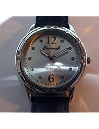 Savannah Ref; 4821 - Reloj de Cuarzo para Mujeres Savannah de Diseño Suizo con Correa Adicional, Reloj para Mujeres con Correa de Cuero Azul, Reloj para Mujeres - 36mm