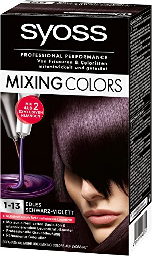 Syoss Mixing Colors 1-13 Edles Schwarz-Violett, 1er Pack (1 x 135 ml)