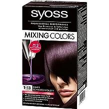 Violette haarfarbe auf schwarz