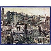Vincent Van Gogh Póster Impresión Artística con Marco (Plástico) - Vista De Los Tejados De París, 1886, Detalle (80 x 60cm)