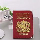 DIVISTAR Rosso PU passaporto Copertura Custodia per Unisex da Viaggio Viaggio passaporto ID Card Holder Case Organizer passaporto Protector Raccoglitore per UK e Europea