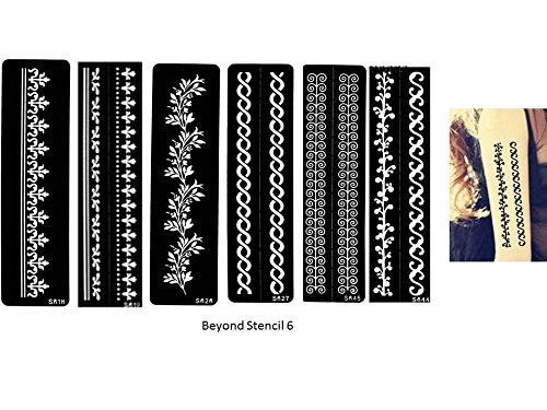 Aktion! Tattoo Schablone Vorlage Armbänder Tattoo für Henna Tattoo Glitter Tattoo und Airbrush Tattoo 6 Sheet Set