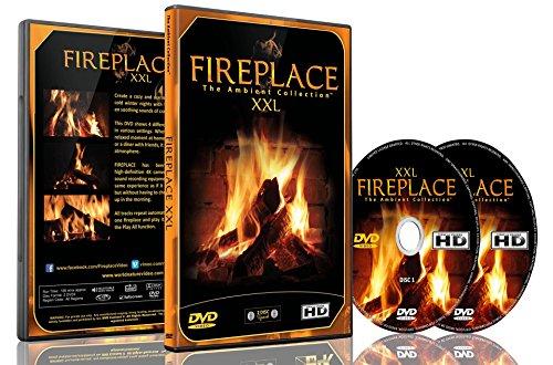Kaminfeuer DVD - Kaminfeuer XXL gefilmt In HD - 2 DVD Set - mit extra langen Feuern und den Geräuschen von brennendem Holz