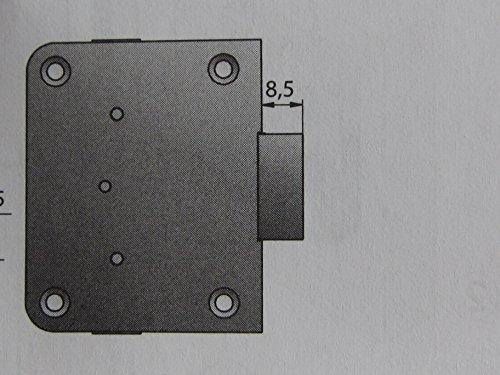 HKB ® Nutbart-Aufschraubschloß, Dornmaß 30 mm, gleichschließend, 1 Stück, 89084