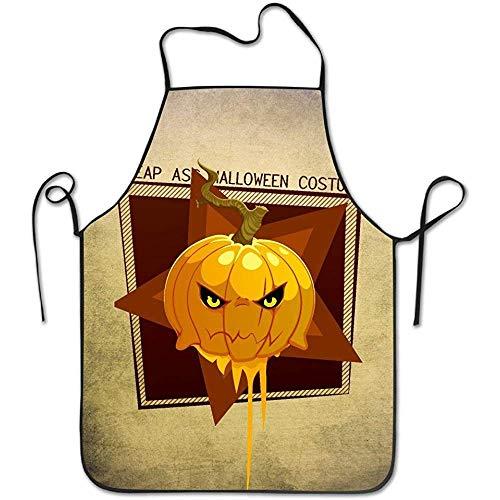 Jhonangel Küchenschürze für Frauen Retro Schürze Kleid Männer Kochschürze Schürze Billig Ass Halloween Kostüm Kürbis Schürze (Lustig Billig Paare Kostüm)