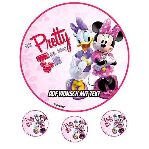 tstag Tortenbild Zuckerbild Oblate Motiv: Disney Minnie Maus 17 (Oblatenpapier) ()