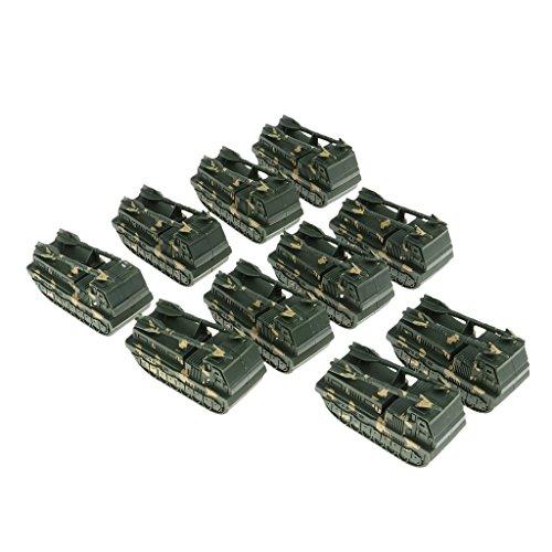 D DOLITY 10 Stk. Armee Militär Panzer Flugzeug Spielzeug Spielset (Armee Spielzeug-panzer)