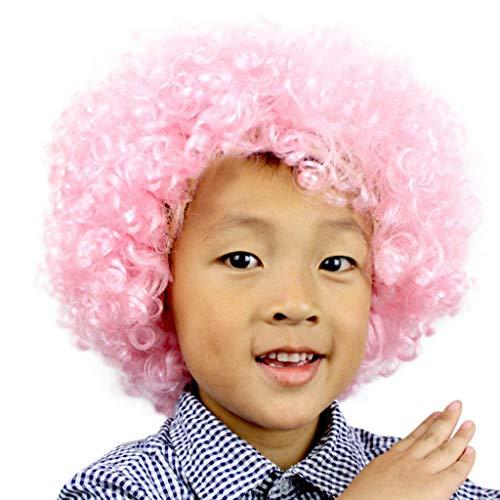 Mitlfuny Karnevals Make-up Fastnacht & Mottopartys,Party Disco Lustige Afro Clown Haar Fußball Fan-Kinder Afro Maskerade Haar Perücke