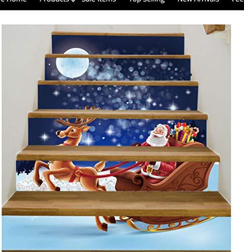 Mondtreppenaufkleber-Dekorationskorridor des alten Mannes 3D imprägniern anhaftendes Wandgemälde der Treppenabziehbilder