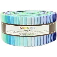 Robert Kaufman Kona Cotton Solids Sunset Colorstory Jelly Roll Up, Set of 43 2.5x44-inch (6.4x112cm) Precut Cotton Fabric Strips by Robert Kaufman Fabrics