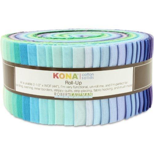 Robert Kaufman Kona Cotton (Robert Kaufman Kona Cotton Solids Sunset Colorstory Jelly Roll Up, Set of 43 2.5x44-inch (6.4x112cm) Precut Cotton Fabric Strips by Robert Kaufman Fabrics)