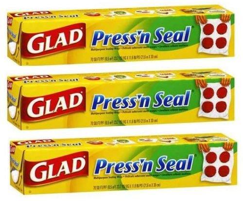 3 x GLAD press'n seal multi purpose sealing wrap swoosh fards à paupière