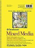 Strathmore Mixed Media Serie 300 Velinpapier, 40 Blatt, 190g/m², 14x21.6cm