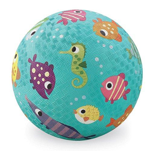 Crocodile Creek Fisch Spielplatz Ball, Blaugrün, 12,7cm - Spielplatz Bälle