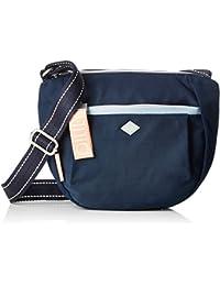 Oilily Groovy Shoulderbag Mvz, Shoppers y bolsos de hombro Mujer, Azul (Dark Blue), 10x23x25 cm (B x H T)