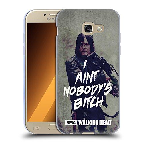 Officiel AMC The Walking Dead Daryl Typographie Étui Coque en Gel molle pour Samsung Galaxy A5 (2017)