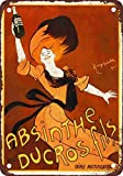 Absinthe Ducros Fils Vintage Look Reproduction Metal Tin Sign 12X18 Inches