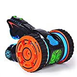 #5: Toykart Super-Fast Shock Absorbing 5 Round 6CH 2-sided Extreme High Speed Tumbling RC Stunt Race Car