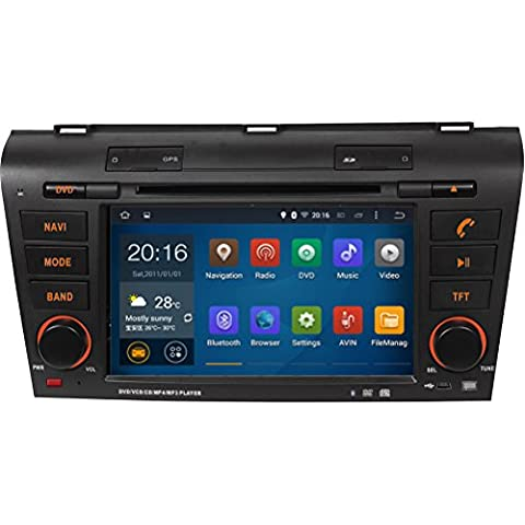 Generic 7 pulgadas 1024 * 600 Android 4,4 Quad Core coche Multimedia Radio para Mazda 3 2004 2005 2006 2007 2008 2009 coche Multimedia reproductor de DVD GPS navegación estéreo 16 GB coche Media Center