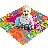 Puzzlematte für Babys und Kinder, Spielteppich | 36pcs EVA Schaumstoffplatten mit Number und Alphabet | Dicker Spielmatte | Nicht Giftig, schadstofffrei