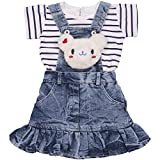 #6: Indian Evergreen Girl's Jeans Denim Dungaree Dress