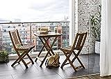 SAM Gartengruppe Taastrup, 3tlg, Akazienholz-Balkongruppe,FSC 100% Zertifiziert,1 Tisch + 2 Stühle,Garten-Tischgruppe Test