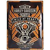 Nostalgic-Art 23222 Harley-Davidson - Wild At Heart, Blechschild 30x40 cm