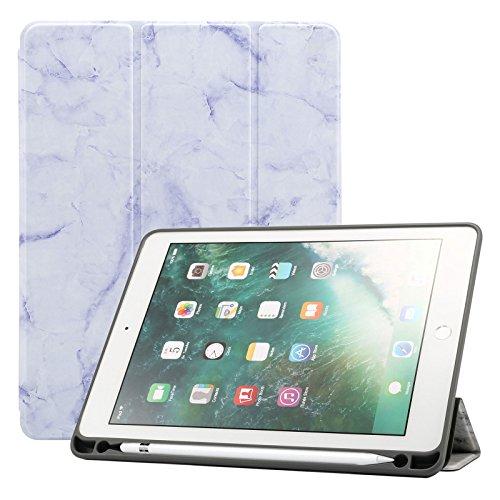 iPad 2018201724,6cm Fall/iPad Air 2Hülle/iPad Air Fall, dteck PU Leder Folio Smart Cover mit Auto Sleep Wake Ständer Wallet Case für Neue iPad 24,6cm 2017/2018, iPad Air 12, 05 Violett Neue Wallet Case