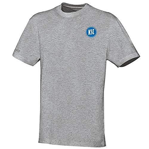 JAKO Fußball Karlsruher SC KSC T-Shirt Team Herren Kurzarmshirt grau Gr M