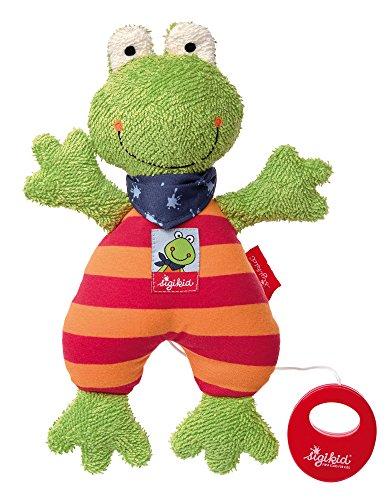 Sigikid Mädchen und Jungen, Spieluhr Frosch, Folunder Frog, Mehrfarbig, 38680