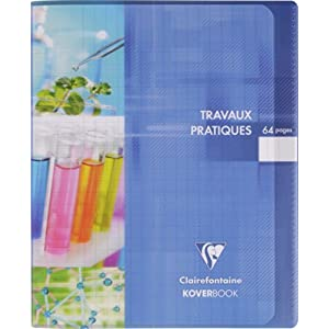 Clairefontaine Koverbook 950420 °C Notebook Works Practical Plastic Cover 90 g 17 x 22 cm 64 Pages Large Squares and Color Random