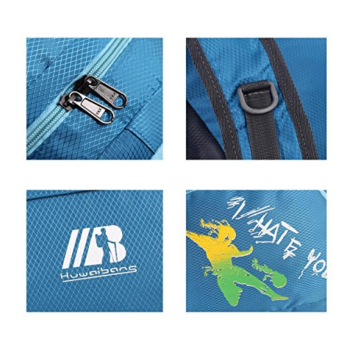 Zaino pieghevole alpinismo piccola capacità grande spazio impermeabile leggero Portable zaino arrampicata escursioni viaggio equitazione borsa studente computer Pack , green Black