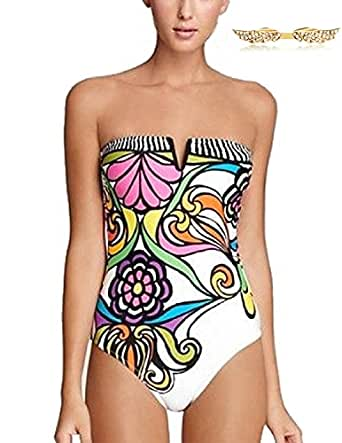 BYD da Donna Costumi da bagno Pezzo Astratto Stampato Floreale Bikinis Costumi interi Push up Diving Suit Mare e piscina Sportswear Swimsuit Beachwear