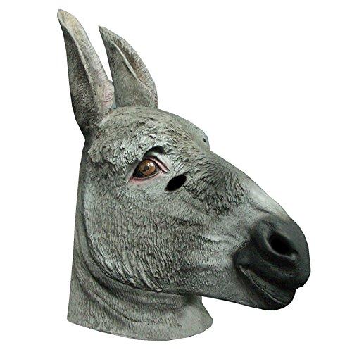 Générique Generic ma1032-Burro Adulto látex Completo máscara-un tamaño